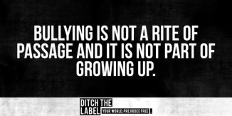 bullying not part of growing up